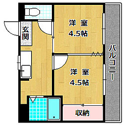 M'PLAZA津田駅前七番館[5階]の間取り