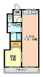 YKハイツ別所町[2階]の間取り