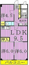 第3千代田マンション[3階]の間取り