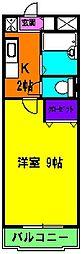 静岡県浜松市中区中島4丁目の賃貸マンションの間取り