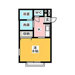 ヴィラコンテッサ谷田[3階]の間取り