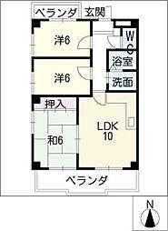 SAISONS MIYAKI[2階]の間取り