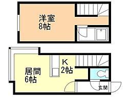 グランステージ澄川 1階1LDKの間取り