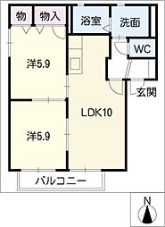 シャーメゾン・SAKURAIG棟[2階]の間取り