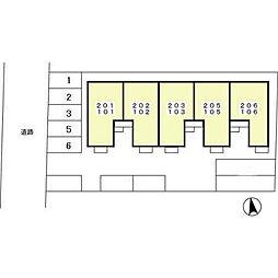 グラシュー・M[1階]の外観
