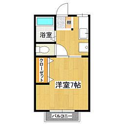 メゾンツクバ[2階]の間取り