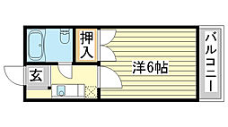 Uマンション[104号室]の間取り