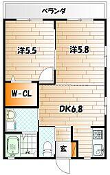 メゾンSuzu[1階]の間取り