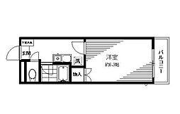 東京都江戸川区東小松川4丁目の賃貸マンションの間取り