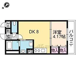 阪急京都本線 桂駅 徒歩10分の賃貸マンション 3階1LDKの間取り