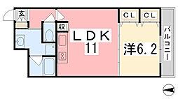 住吉マンション[3-D号室]の間取り