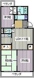 埼玉県さいたま市南区松本3丁目の賃貸マンションの間取り