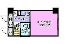 ドミトリー茅ヶ崎403[4階]の間取り