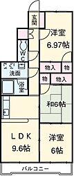 愛知県安城市今本町4丁目の賃貸マンションの間取り
