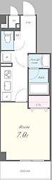 JR総武線 新小岩駅 徒歩12分の賃貸マンション 3階1Kの間取り