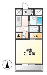 クラフトアルス[2階]の間取り