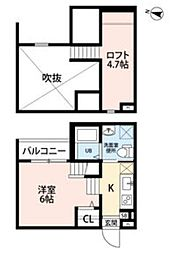 ココマンション 2階ワンルームの間取り
