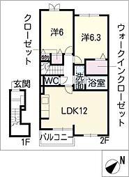 フィオーレ III[2階]の間取り