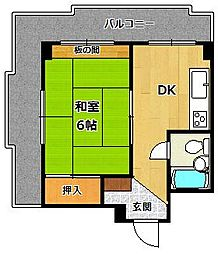 塚口KRマンション[305号室]の間取り