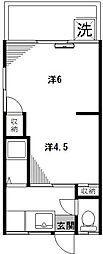 第2野田ハイツ[1階]の間取り