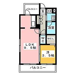 アイ・セレブ箱崎浪漫邸[4階]の間取り