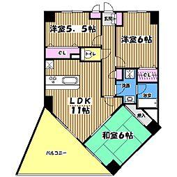 東京都八王子市みなみ野3丁目の賃貸マンションの間取り