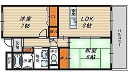 レーゼンハイム2[4階]の間取り