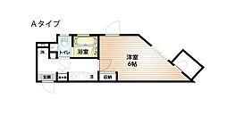 東急東横線 祐天寺駅 徒歩12分の賃貸マンション 2階1Kの間取り