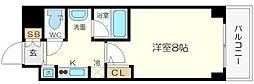 QCFlat北堀江[10階]の間取り