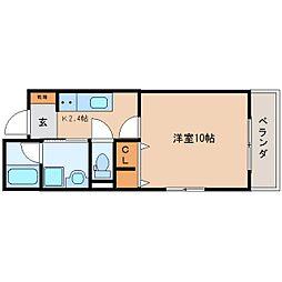 JR東海道本線 静岡駅 徒歩21分の賃貸マンション 4階1Kの間取り