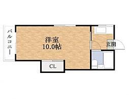 リリアン都島[2階]の間取り