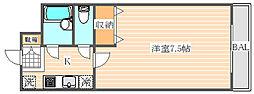 フォーサイト箱崎レナトゥス[4階]の間取り