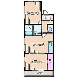 サンライズハイツ[3階]の間取り