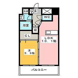モンルポ博多駅東[8階]の間取り