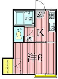 ビルトモア[1階]の間取り