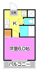 plumas上福岡[2階]の間取り