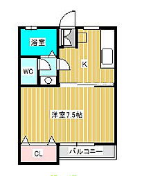 アドミナル8号棟[1階]の間取り