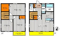 [一戸建] 東京都日野市旭が丘1丁目 の賃貸【東京都 / 日野市】の間取り