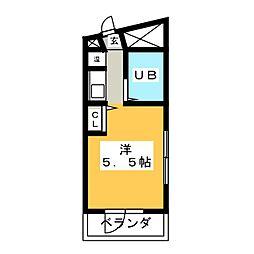 サンセット33[5階]の間取り