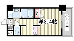 兵庫県神戸市中央区日暮通3丁目の賃貸マンションの間取り