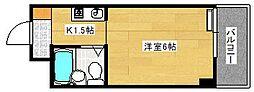 広島県広島市南区荒神町の賃貸マンションの間取り