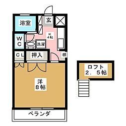 ティエラM1[1階]の間取り