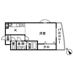 神奈川県伊勢原市串橋の賃貸マンションの間取り