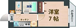 JR中央線 荻窪駅 徒歩8分の賃貸マンション 1階1Kの間取り