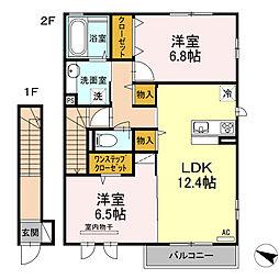 (仮称)D-roomたちばな台[203号室]の間取り