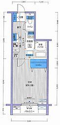 ガーデンビレッジ小石川 3階1Kの間取り