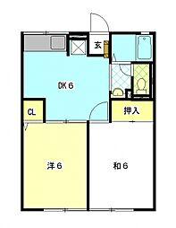 カンボリ[1階]の間取り
