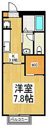 カサベリヤA[1階]の間取り