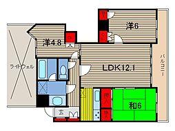 オーベル川口本町[9階]の間取り