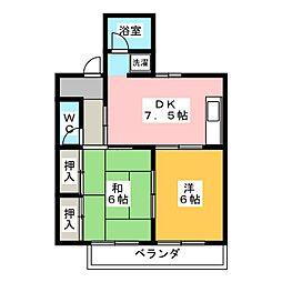 レジデンス神沢[2階]の間取り